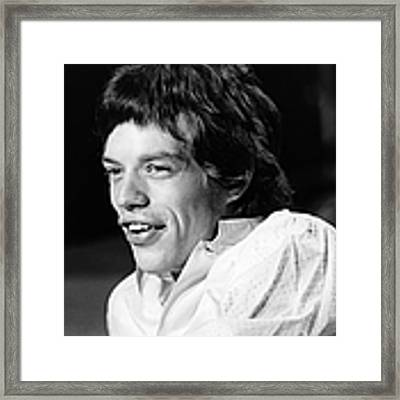 Photo Of Mick Jagger And Rolling Stones Framed Print by Ivan Keeman