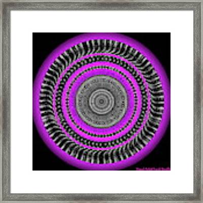 Pink Eye Framed Print by Visual Artist Frank Bonilla