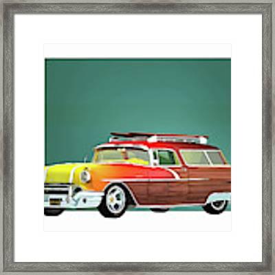 Pontiac Safari Surfer Edition Framed Print by Jan Keteleer