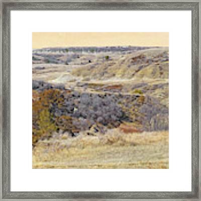 Prairie Slopes Reverie Framed Print by Cris Fulton