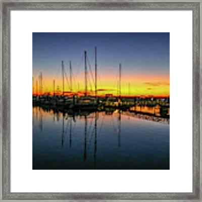 Pre-dawn Marina Colors Framed Print by Tom Claud
