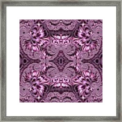 Purple Lilac Gardens And Reflecting Pools Fractal Abstract Framed Print by Rose Santuci-Sofranko