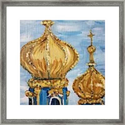 Pushkin Palace Towers Framed Print by Maria Langgle