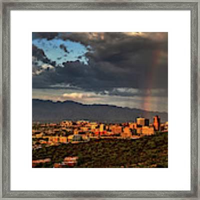Rainbow Over Tucson Framed Print by Chance Kafka