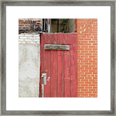 Red Alley Door Chinatown Washington Dc Framed Print by Edward Fielding