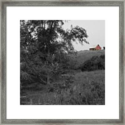 Red Barn Hill Framed Print by Dylan Punke