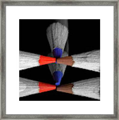 Reflecting Colour Pencils Framed Print by Garvin Hunter