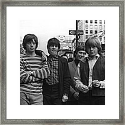 Rolling Stones Framed Print by William Lovelace