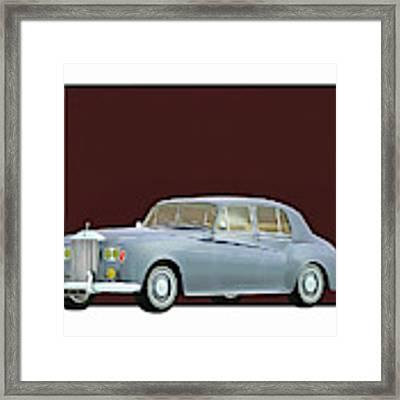 Rolls Royce Silver Cloud IIi 1963 Framed Print by Jan Keteleer