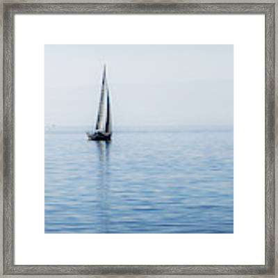 Sailing Into The Mists Framed Print by Jeremy Hayden