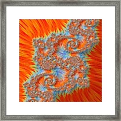 Saint Georges Vanquished Dragon Fractal Abstract Framed Print by Rose Santuci-Sofranko
