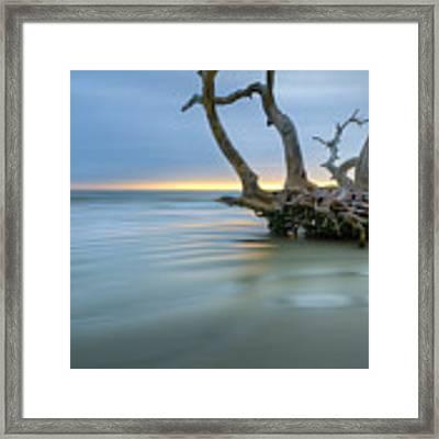 Salty Sea Dreamscape Framed Print by Debra and Dave Vanderlaan