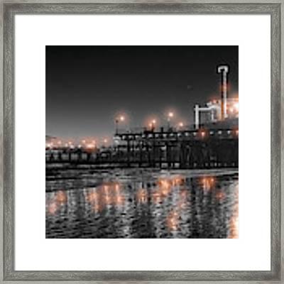 Santa Monica Glow By Mike-hope Framed Print by Michael Hope