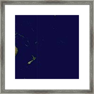 Satellite Image Of Oceania, Australasia And South-eastern Asia Framed Print by Celestial Images