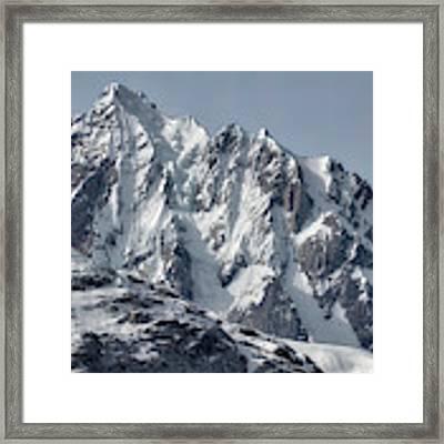 Sawtooth Mountain Framed Print by David A Lane