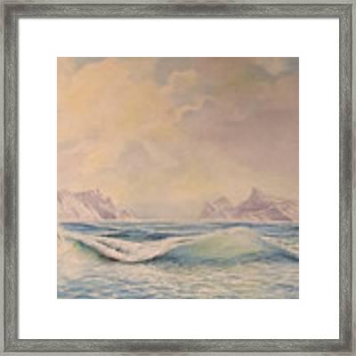 Sea Waves Framed Print by Said Marie