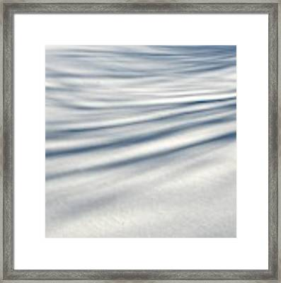 Shadows In The Snow Abstract By Artist4god Framed Print by Rose Santuci-Sofranko