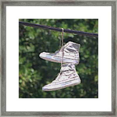 Shoefiti 72793dp Framed Print by Brian Gryphon