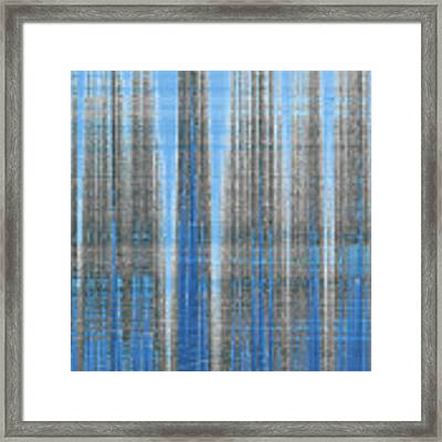 Silver Blue Plaid Abstract #4 Framed Print by Patti Deters