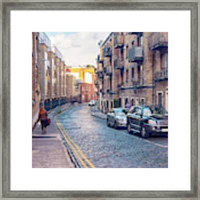 small street of Dublin Framed Print by Ariadna De Raadt
