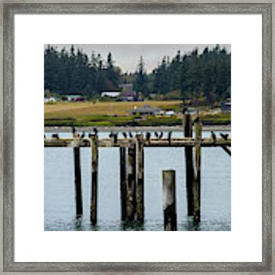 Small Village Along The Columbia River Framed Print by Mae Wertz