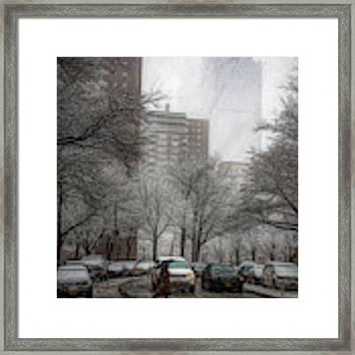 Snow In The City Framed Print by Alison Frank