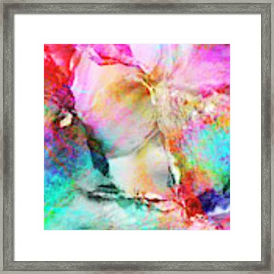 Somebody's Smiling - Custom Version 3 - Abstract Art Framed Print by Jaison Cianelli
