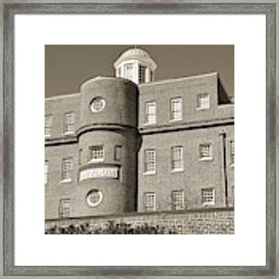 South Carolina State Hospital Asylum Black And White Framed Print by Lisa Wooten