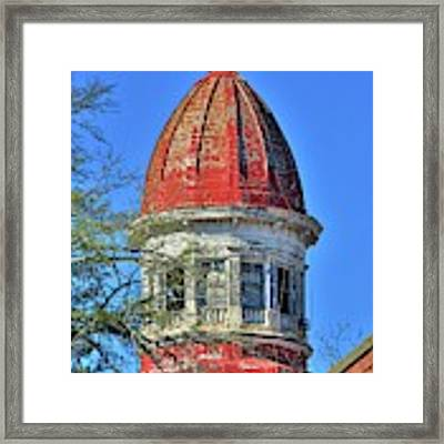 South Carolina State Hospital Dome 3 Framed Print by Lisa Wooten