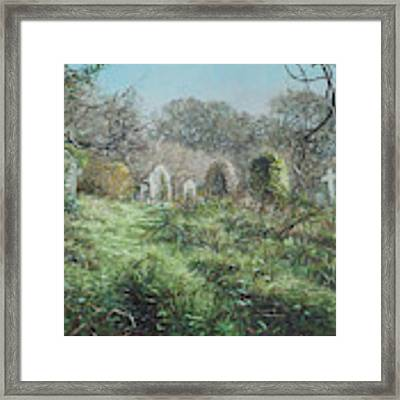 Southampton Old Cemetery In Autumn Framed Print by Martin Davey