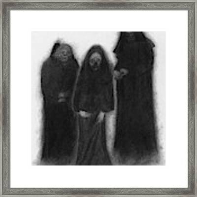 Specters Of The Darkness Beneath - Artwork Framed Print by Ryan Nieves