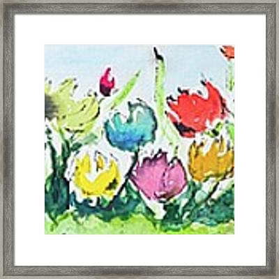 Springtime Tulips Framed Print by Wendy Ray