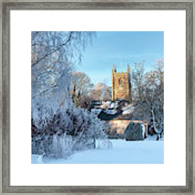 St James Church Avebury In The Snow Framed Print by Tim Gainey