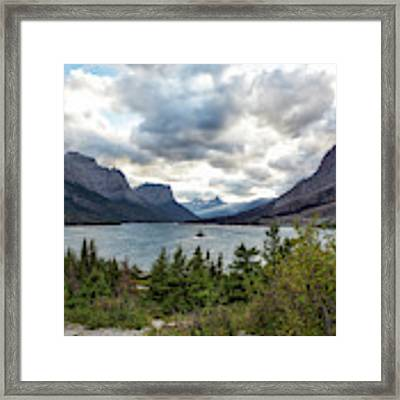 St Mary's Lake And Wild Goose Island Framed Print by Belinda Greb