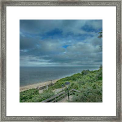 Stairs To The Beach Framed Print by Judy Hall-Folde