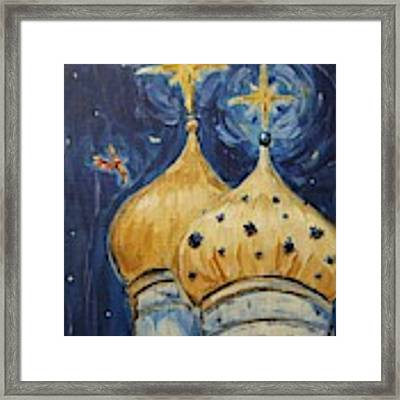 Stars Near And Far Framed Print by Maria Langgle