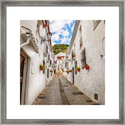street in Mijas, Spain Framed Print by Ariadna De Raadt