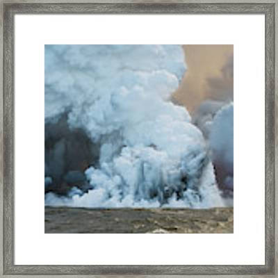 Submerged Lava Bomb Framed Print by William Dickman