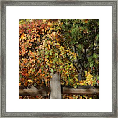 Summers End Framed Print by Ann E Robson