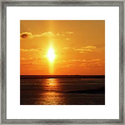 Sun Pillar 01 Framed Print by Rob Graham