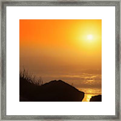 Sunset At Beverly Beach On The Oregon Coast Framed Print by Dee Browning