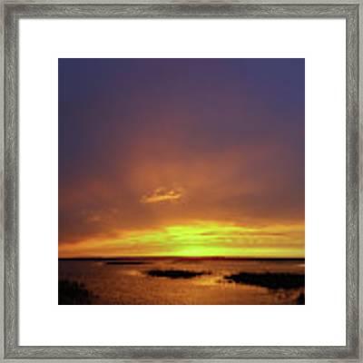 Sunset At Cheyenne Bottoms -02 Framed Print by Rob Graham
