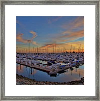Sunset At Pier 32 Marina In National City, California Framed Print by Sam Antonio Photography