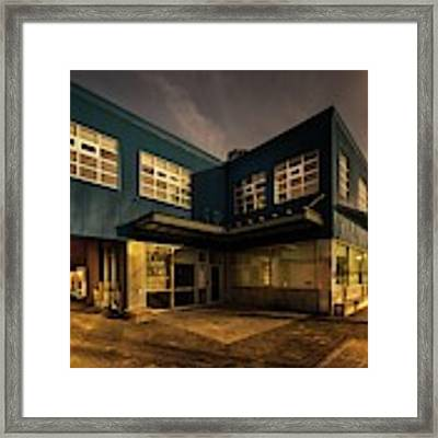 Sunset On North Building Framed Print by Juan Contreras