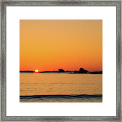 Sunset Over Sunset Bay, Oregon 4 Framed Print by Dawn Richards