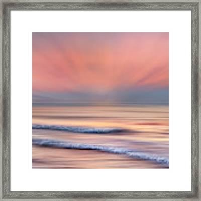 Surf At Sunrise Dreamscape Framed Print by Debra and Dave Vanderlaan