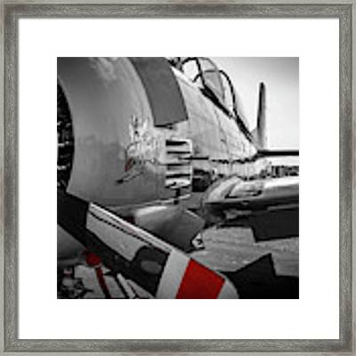 T-28b Trojan In Selective Color Framed Print by Doug Camara