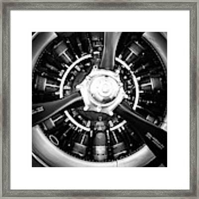 T-28b Vertical Close-up In Bw Framed Print by Doug Camara