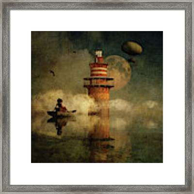 The Conducting Lighthouse Framed Print by Jan Keteleer