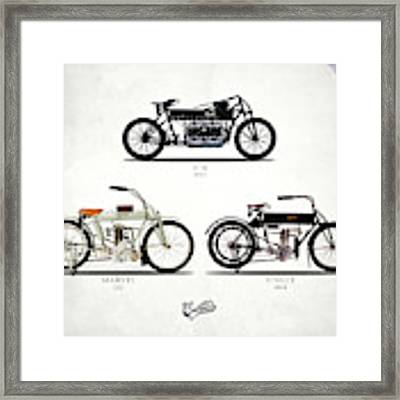 The Curtiss Motorcycle Collection Framed Print by Mark Rogan